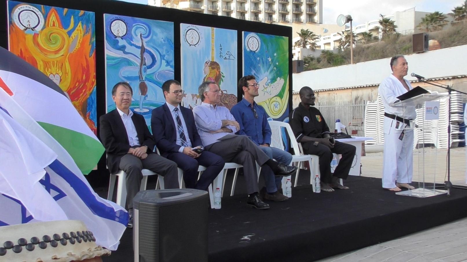 Danny Hakim addressing the International Martial Arts Friendship Training. Photo courtesy of Budo for Peace