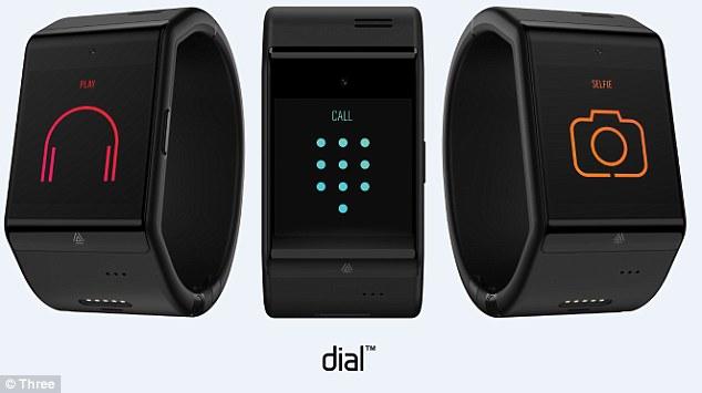 The Dial wearable tech watch packs Israeli tech. Photo via Three UK