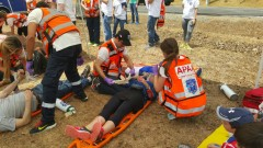 Mass casualty incident drill in Panama. Photo by United Hatzalah Spokesperson's Department