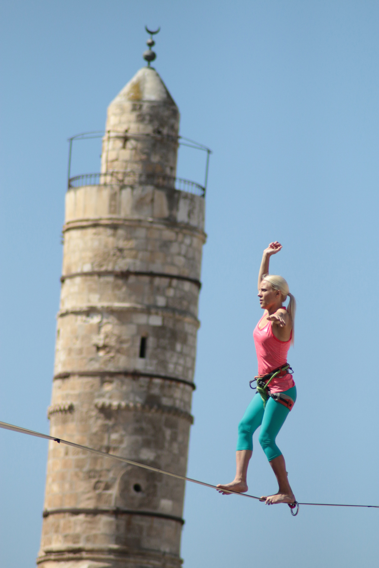 Heather Larsen in Jerusalem. Photo by Tower of David Museum