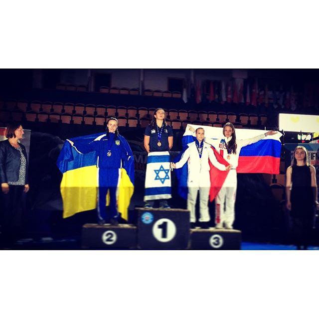 Israeli fighter Nili Block wins gold at 2016 Muaythai World Championship. Photo via Instagram
