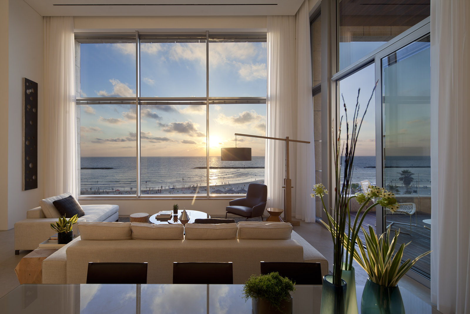 Each apartment in Herbert Samuel 48 has a sea view. Photo by Amit Giron