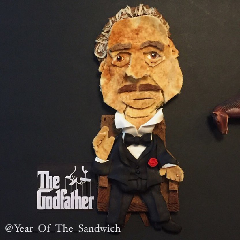 Year of the Sandwich meets The Godfather. Photo via liveinstagram.com