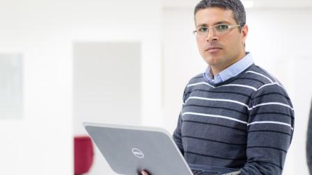 SadelTech CEO Ibrahim Sana. Photo by Anas Abu-Daabis