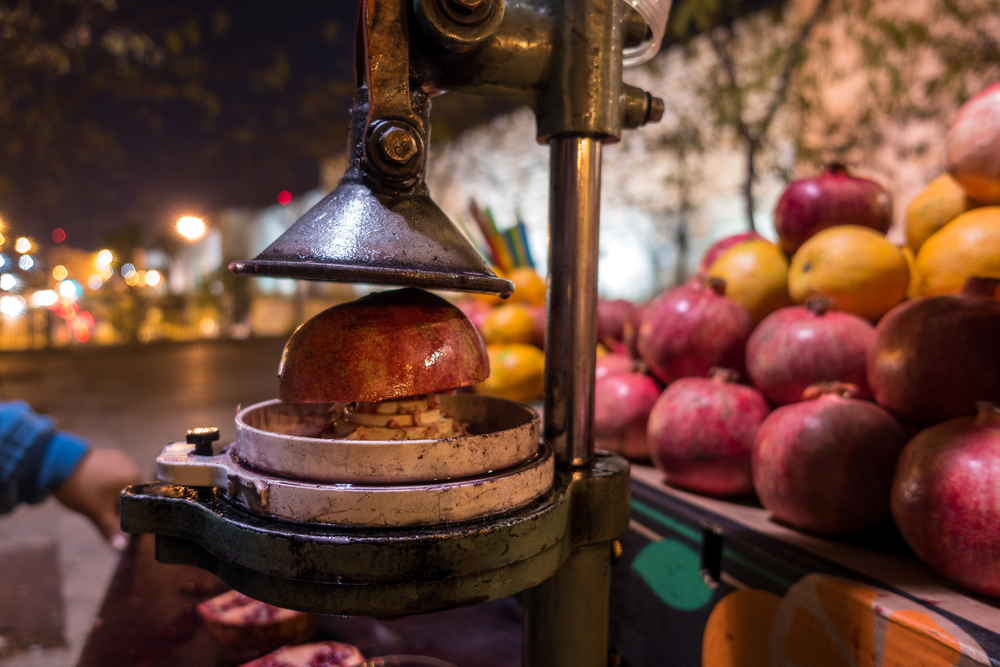 Fresh pomegranate juice. Photo via Shutterstock