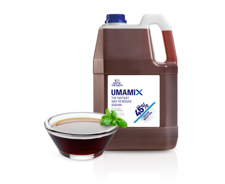 Umamix comes in two liquid varieties for industrial use. The consumer versions are called Mediterranean Umami and Spicy Mediterranean Umami. Photo courtesy of Salt of the Earth