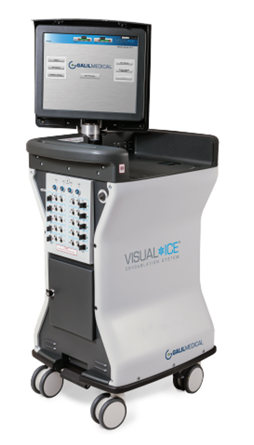 Visual-ICE -- a minimally invasive, easy-to-use system to precisely destroy solid tumor cancers of the kidney, lung, bone, liver and prostate. Photo via Galil Medical