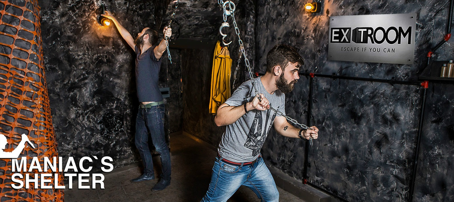 """Maniac's Shelter"" is one of the themed escape rooms at Tel Aviv's Exit Room. Photo: courtesy"