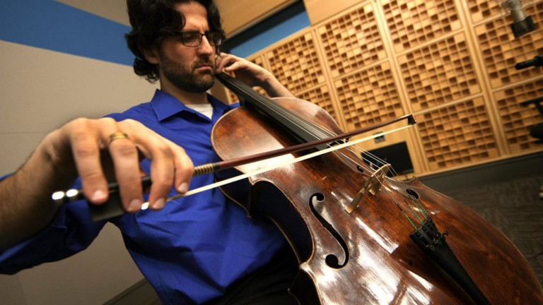Amit Peled says he wishes his turkey-farmer grandfather were alive to watch him perform on the Casals cello. Photo: courtesy
