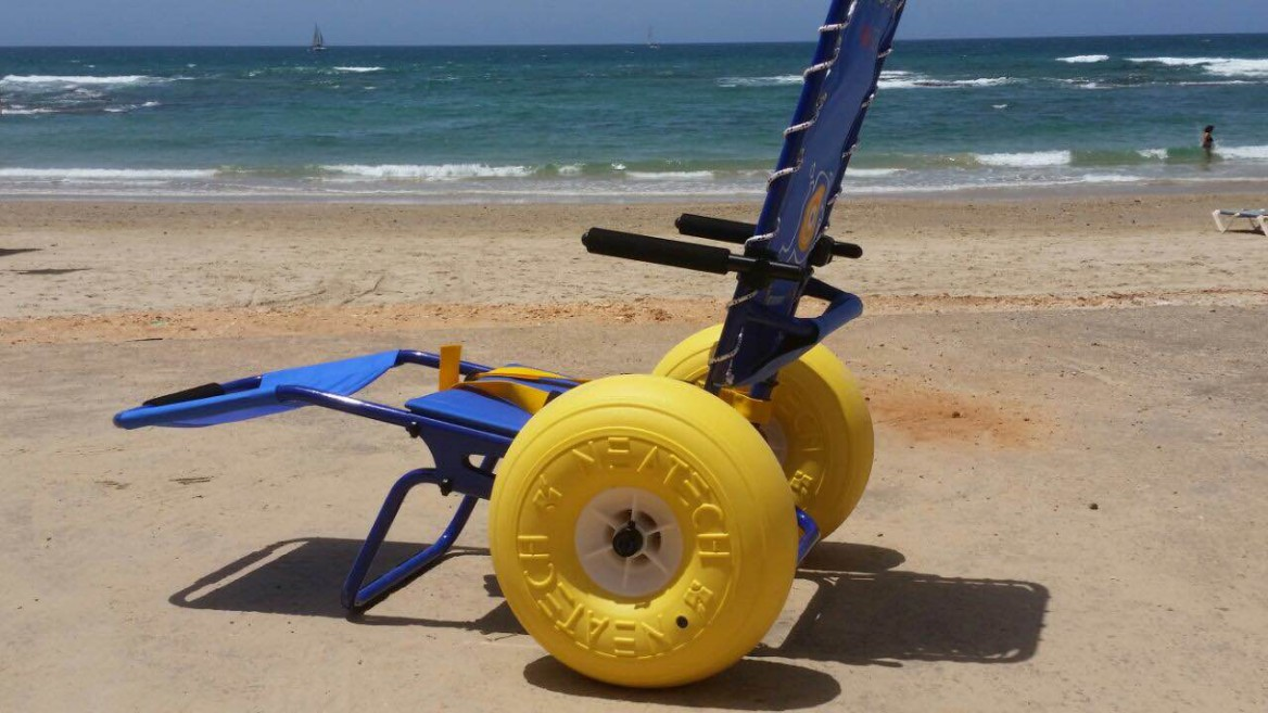 Banana Beach invested in two beach wheelchairs. Photo: courtesy