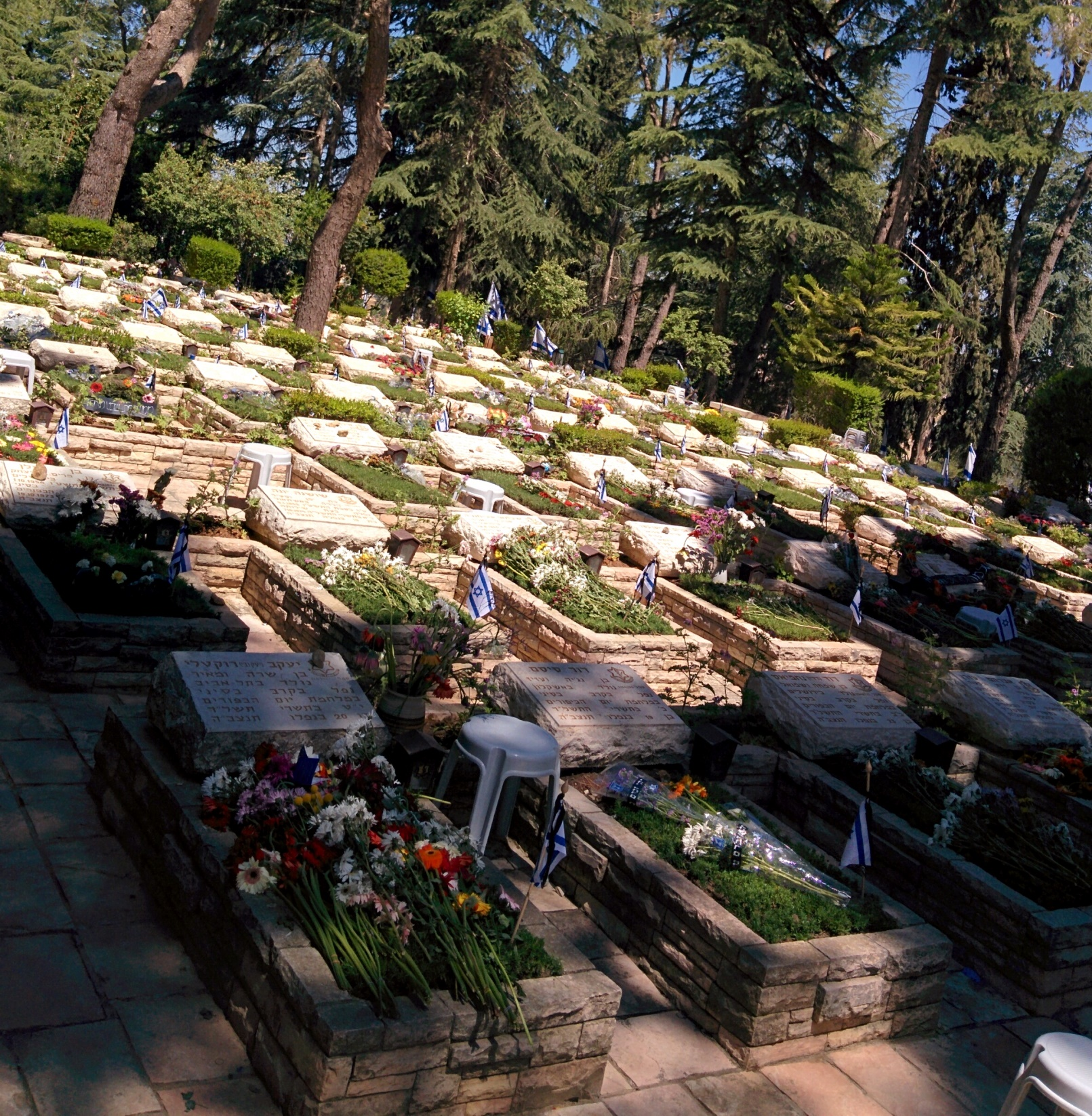 Graves in Mount Herzl's military cemetery. Photo by Abigail Klein Leichman