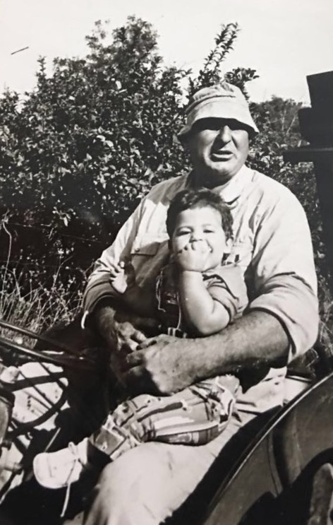 Amit Peled with his grandfather, Moshe Bernstein. Photo: courtesy
