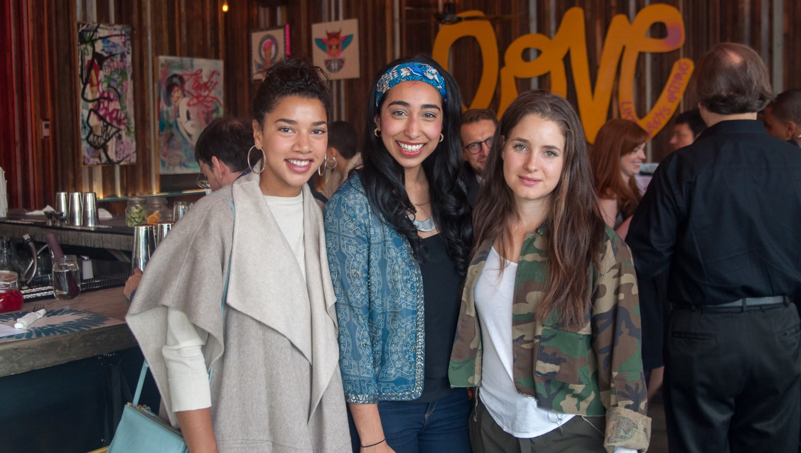 From left, Hannah Bronfman, Anisha Atluri and Leigh Ofer of Seed Street. Photo: courtesy