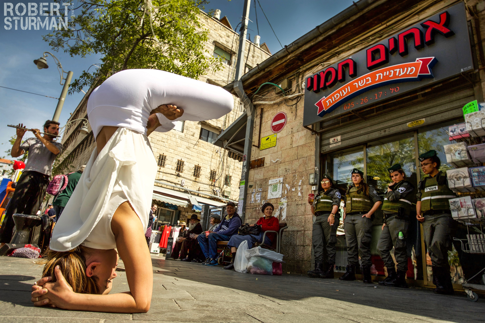 Talia Sutra in Jerusalem's Machane Yehuda market. Photo by Robert Sturman