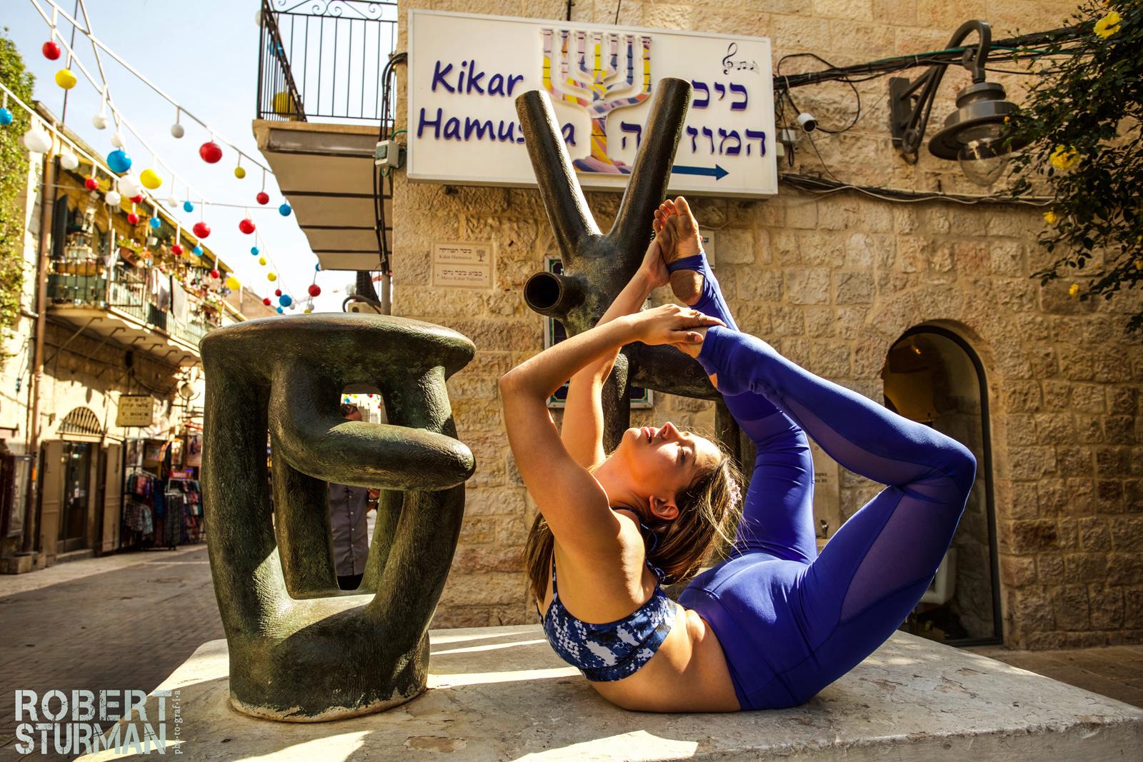 An asana in Jerusalem's city center. Photo by Robert Sturman