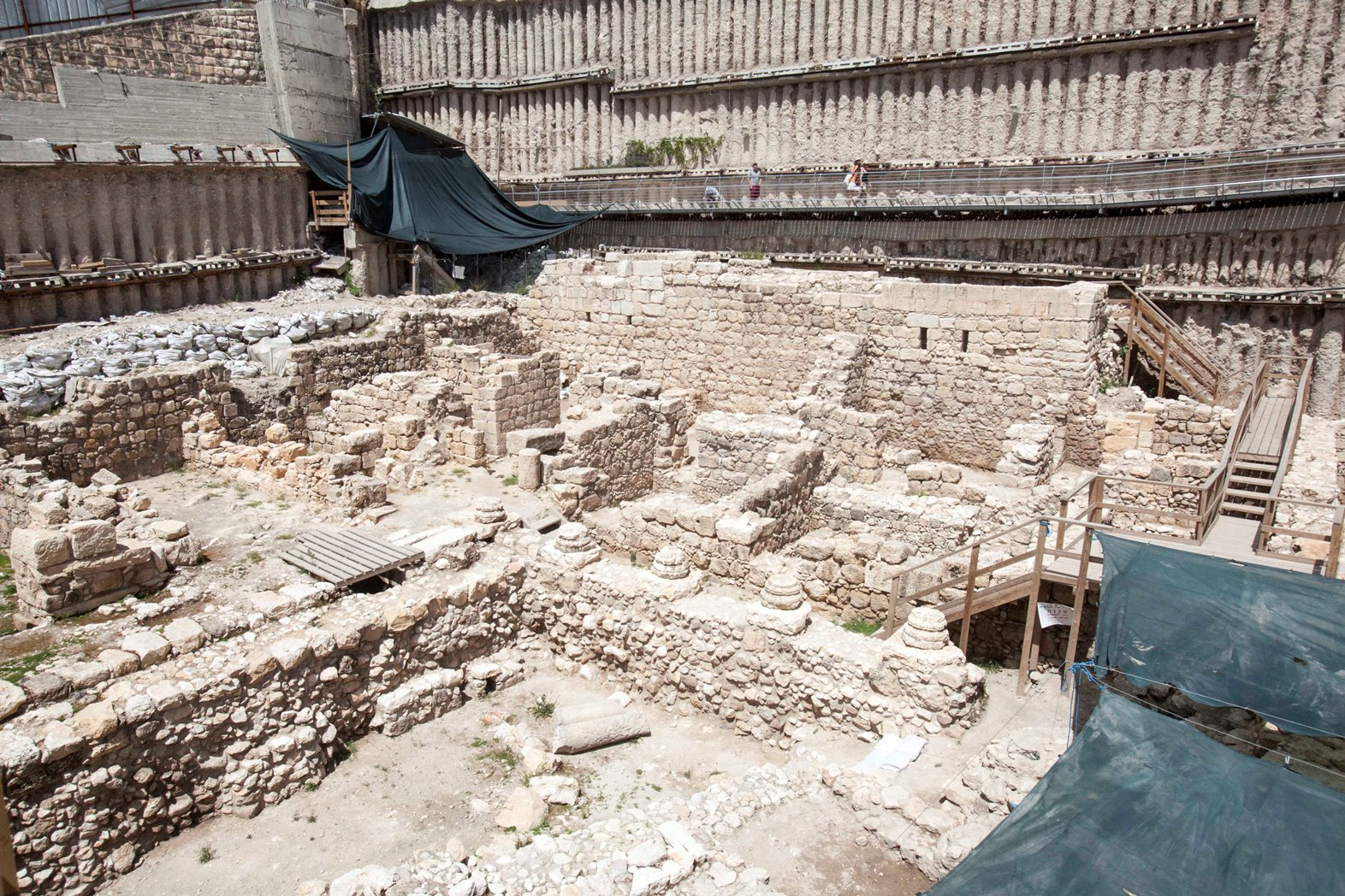 View of an archeological excavation in the City of David. Photo by Uri Lenz/FLASH90
