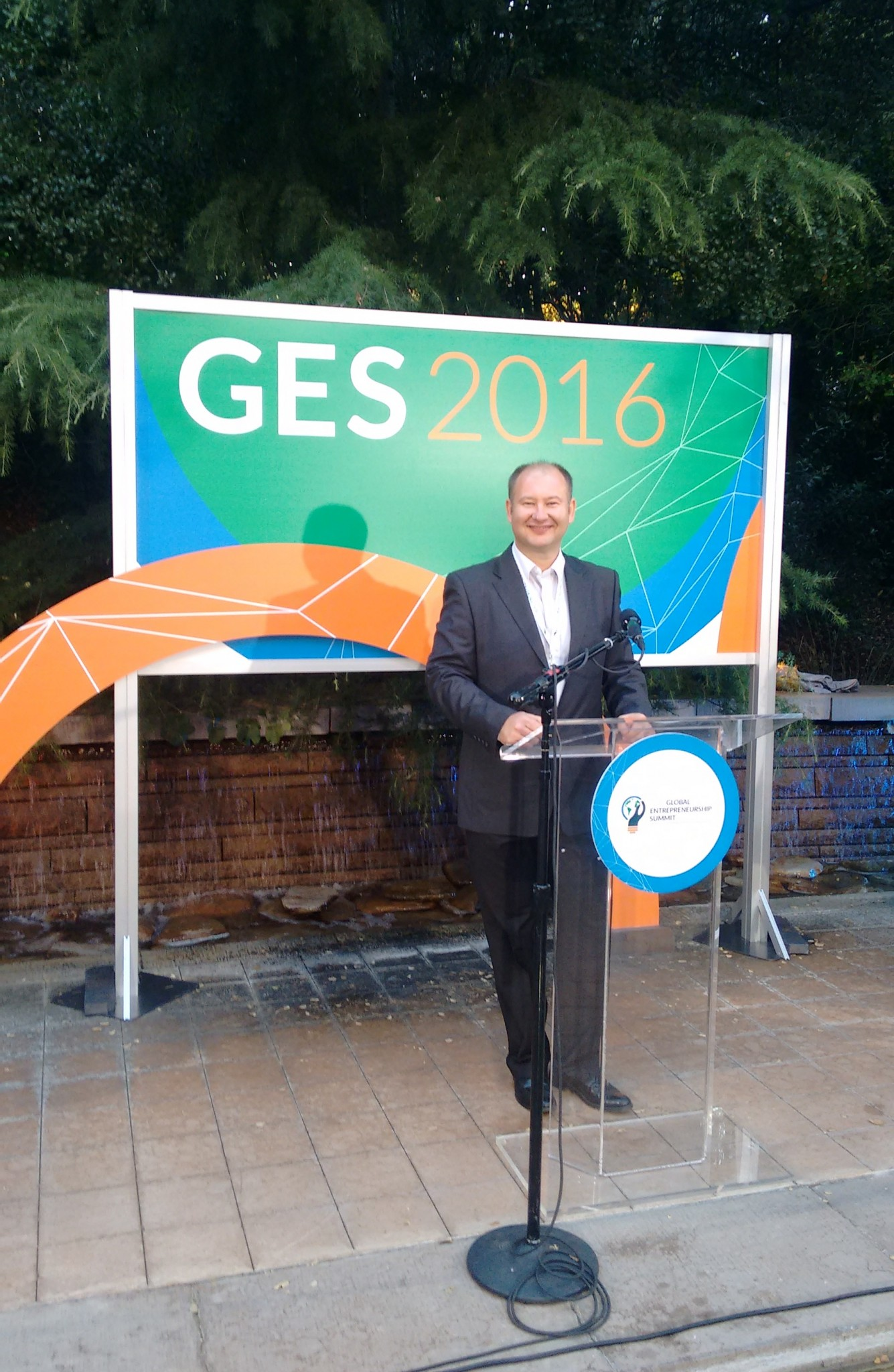 Cap to right: BwareIT's Konstantin Berezin at GES Summit 2016. Photo: courtesy
