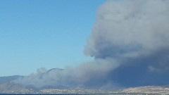 A fire raging out of control in Argaka in Paphos, Cyprus. Photo via Cyprus-Mail
