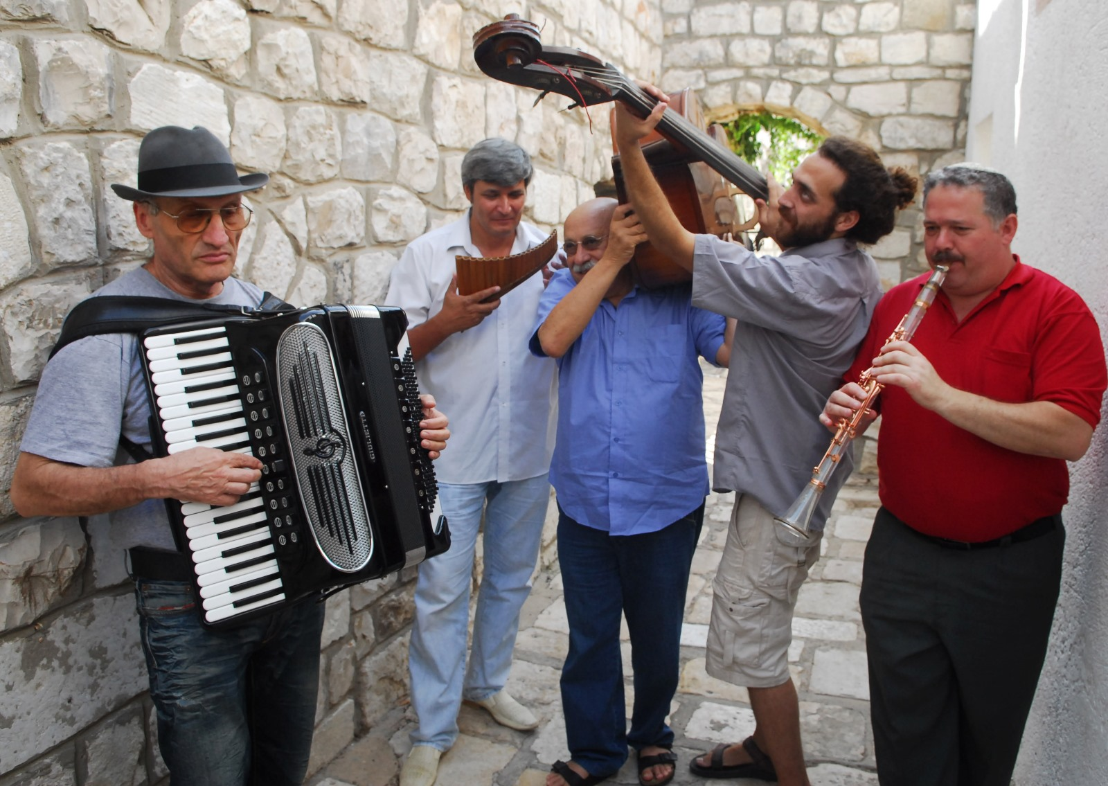 Klezmer takes over the alleyways of Safed every August. Photo by FLASH90