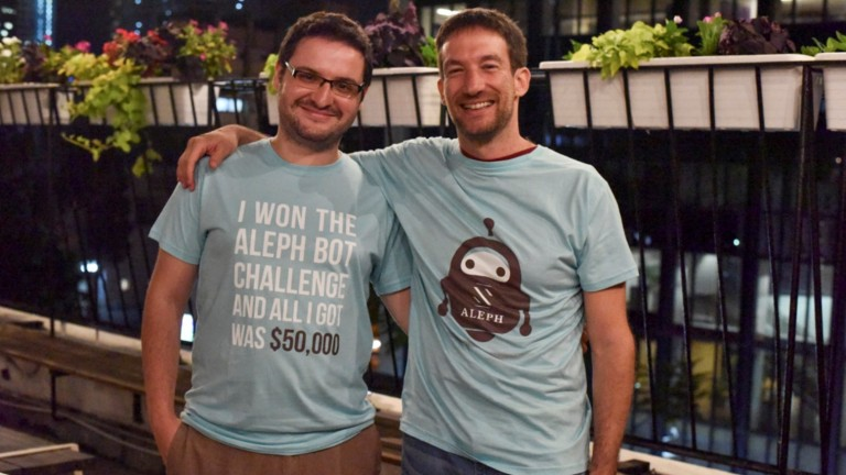 Arik Fraimovich-Almog of Redash, left, and Aleph VC Partner Eden Shochat. Photo by Omri Shapira