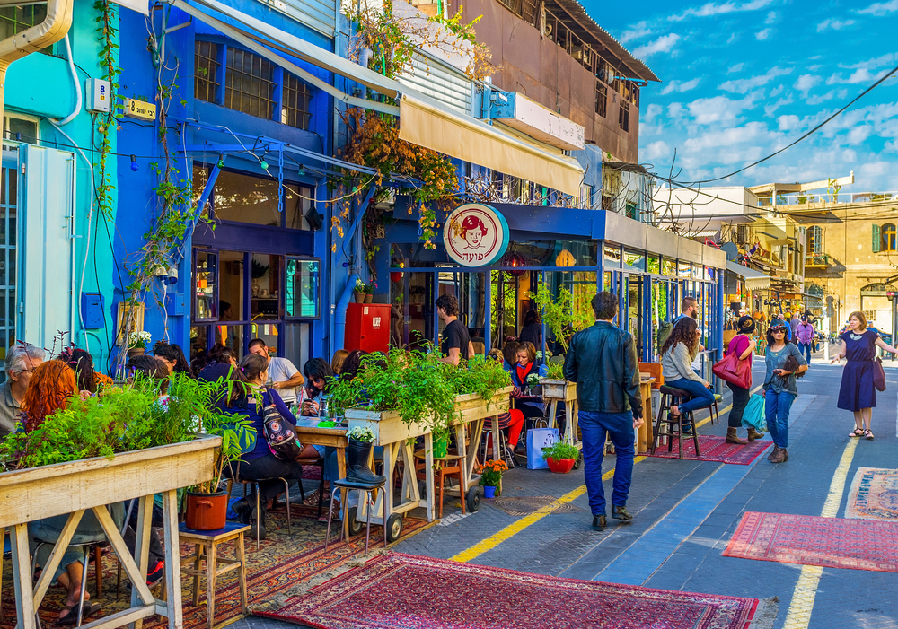Jaffa Flea Market bars. Photo via Shutterstock.com