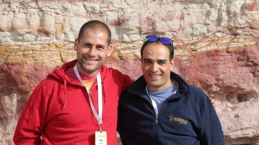 Ami Dror and Forsan Hussein of Zaitoun Ventures. Photo courtesy