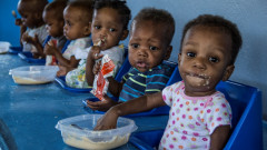 Therapeutic food purchased by 3 Million Club donors helped nourish 2,000 Haitian children. Photo: courtes