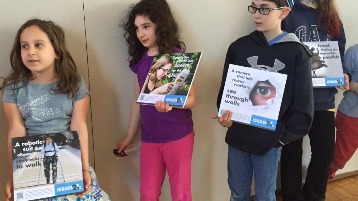 Children at Temple Israel in Natick, Massachusetts
