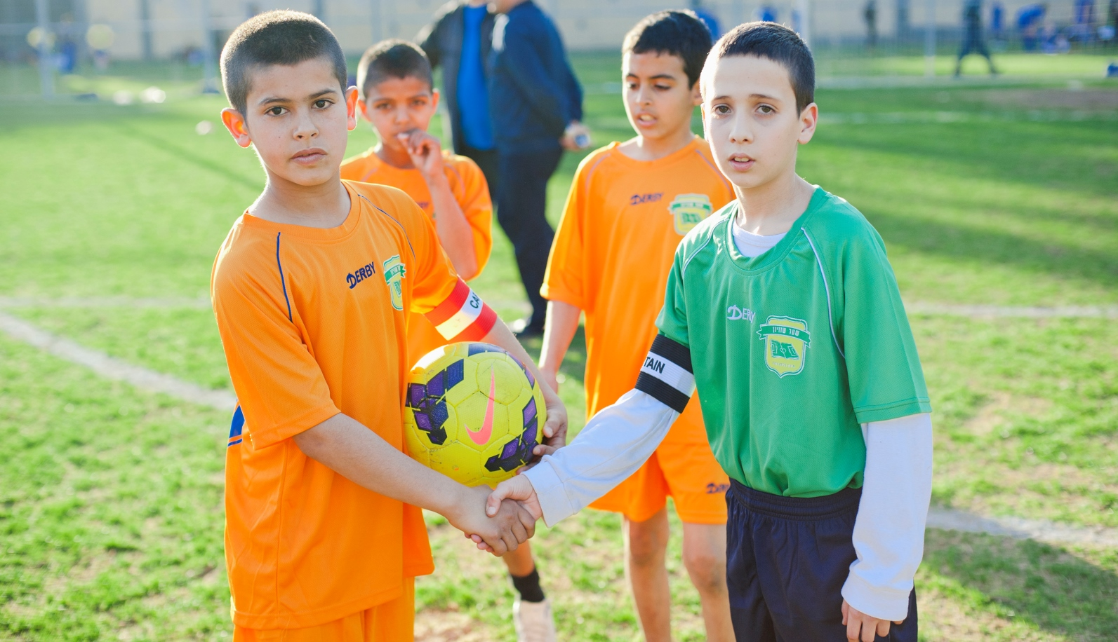 """Making new friends """"is so much more than a game,"""" says one Arab participant in The Equalizer. Photo: courtesy"""