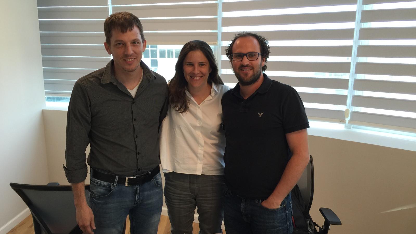 From left, MyndYou cofounders Itay Baruchi, Ruth Poliakine Baruchi and Dan Sztybel. Photo: courtesy