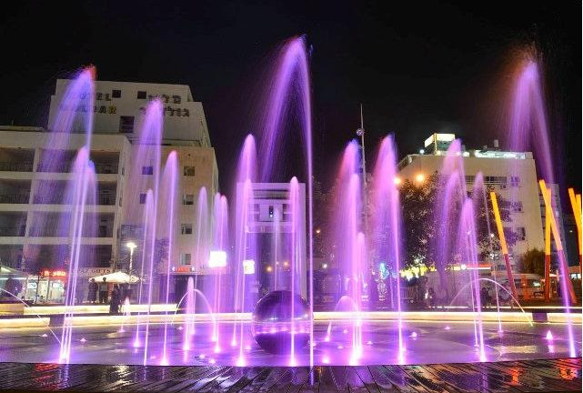 Netanya fountain photo by Peleg Alkalai/Netanya municipality.