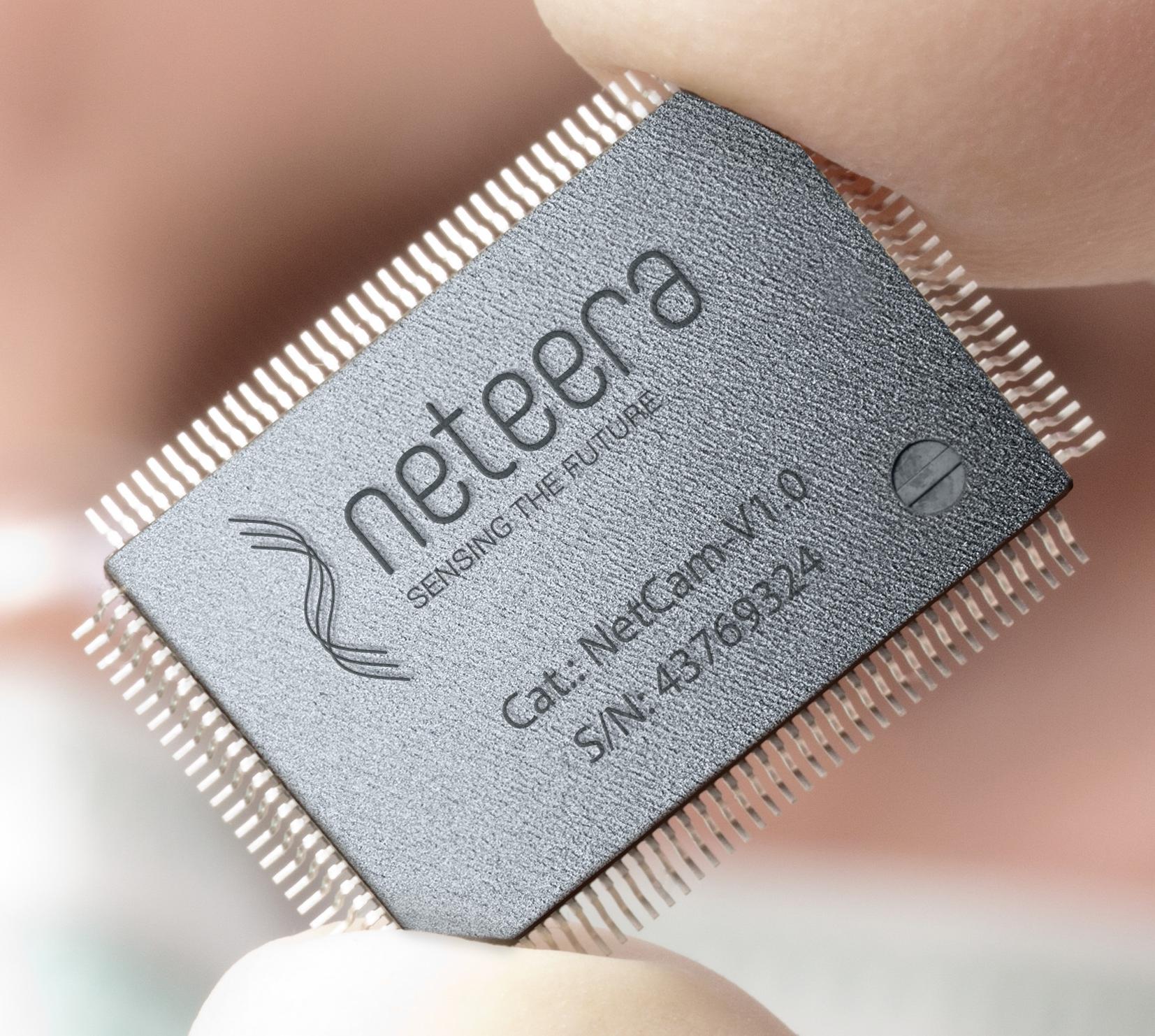 The chip inside Neteera's nano camera. Photo courtesy of Yissum