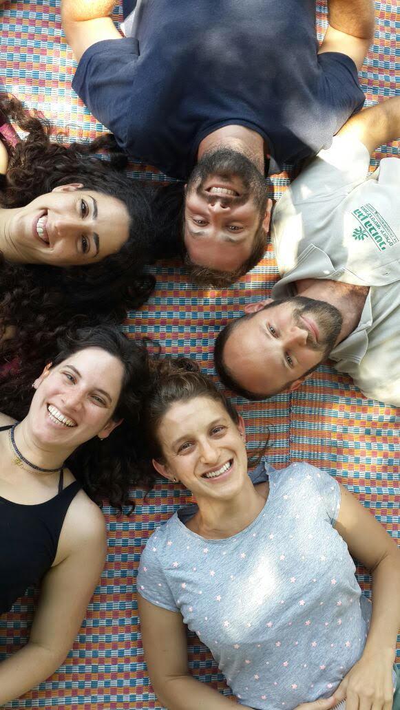 The hub's staff, from top clockwise: David Mendelbaum, Maayan Shiri, Lior Gottesman, Adi Bar-Yoseph, Nir Lahav. Photo courtesy of Jerusalem Botanical Gardens