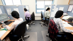 A high tech company employing ultra orthodox women in Modiin Elit. Photo by Abir Sultan/Flash 90
