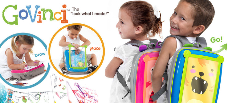 GoVinci lets kids make and display artwork on their luggage. Photo: courtesy