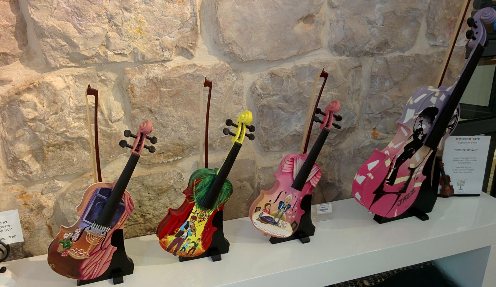 Musical merchandise in Kikar Hamusica Boutique. Photo by Abigail Klein Leichman