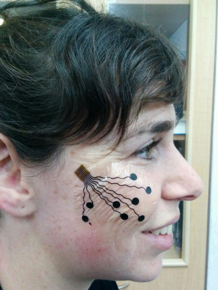 New electronic tattoo has a myriad of uses. Photo courtesy of American Friends of Tel Aviv University