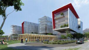 Architect's rendering of the life sciences park in Haifa. Photo courtesy of Haifa Economic Corporation