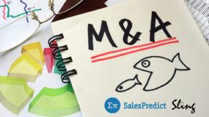 eBay buys SalesPredict while Avante picks up Sling in multi-million dollar deals. Illustration via Shutterstock.com/logos