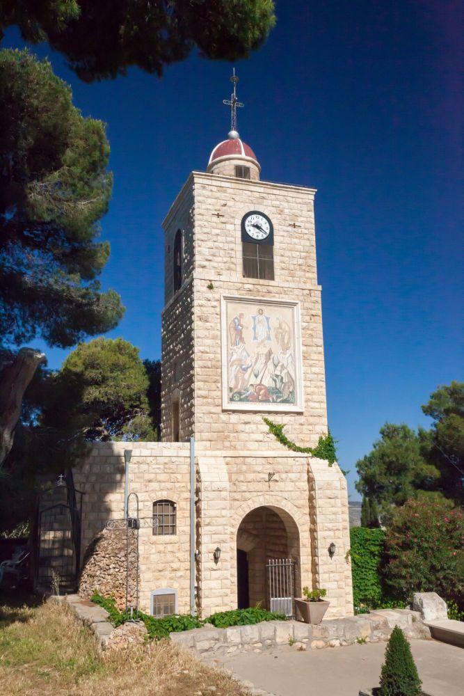 St. Elias Greek Orthodox Monastery on Mount Tabor. Image via Shutterstock.com