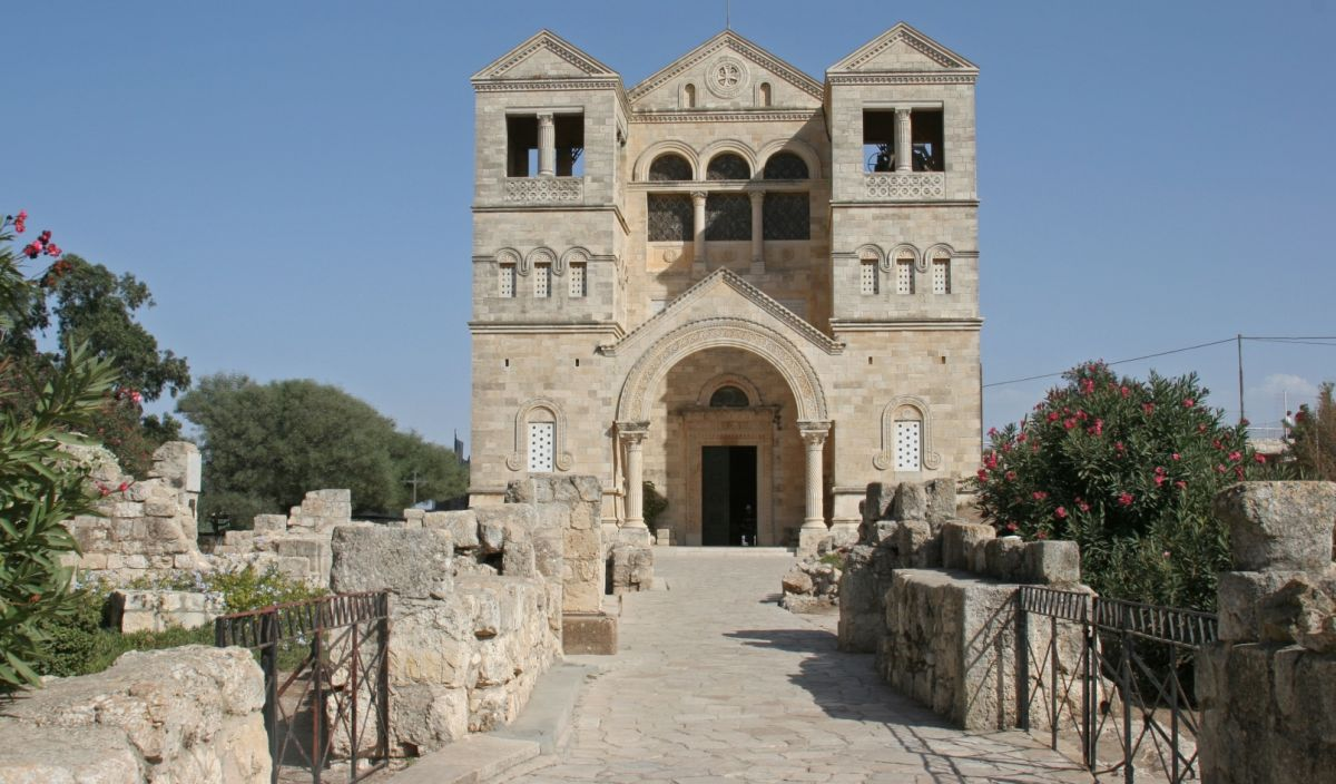 Church of the Transfiguration on Mount Tabor. Image via Shutterstock.com