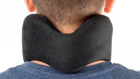 MotionCure sends pulses to the brain through both the median nerve at the back of the neck and the inner ear's vestibular system. Photo: courtesy
