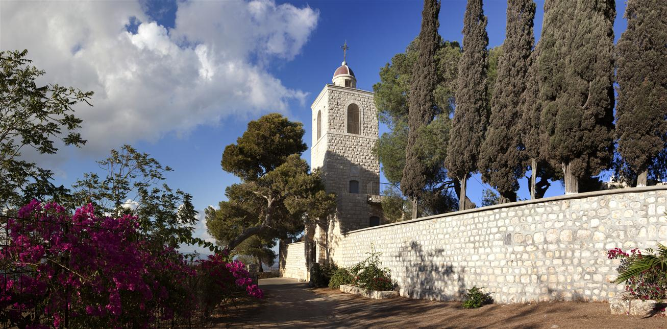 The Greek Orthodox compound on Mount Tabor. Photo by Mordagan/Israel Tourism Ministry