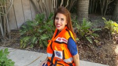 Nechama Loebel, Israel's first deaf EMT. Photo courtesy of United Hatzalah