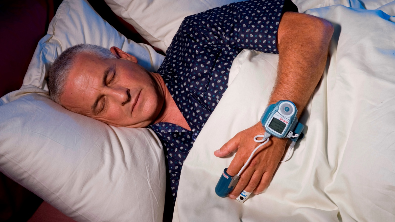 WatchPAT monitors sleep apnea at home. Photo: courtesy