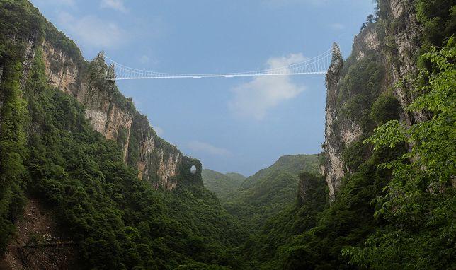 Image of the new glass bridge via HaimDotan.com