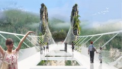 Image of the new glass bridge via HaimDotan.com