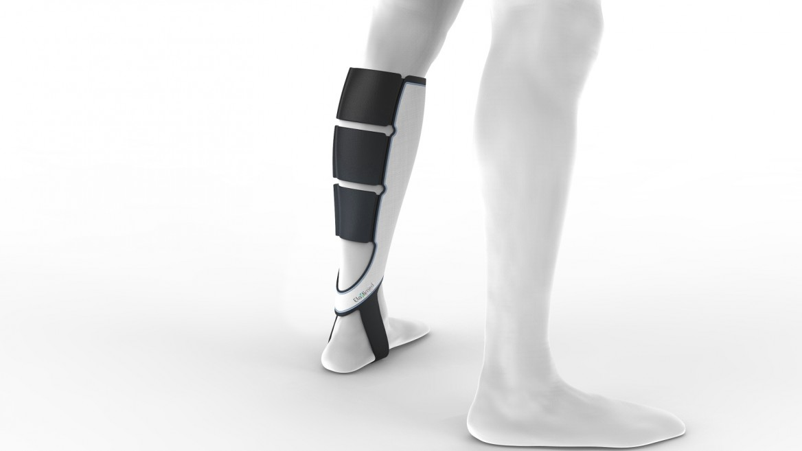 Smart compression stocking goes on easy and feels comfy