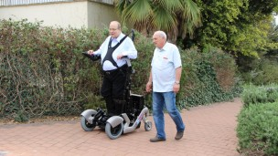 UPnRIDE (and ReWalk) inventor Amit Goffer enjoying a walk for the first time since 1997. Photo: courtesy