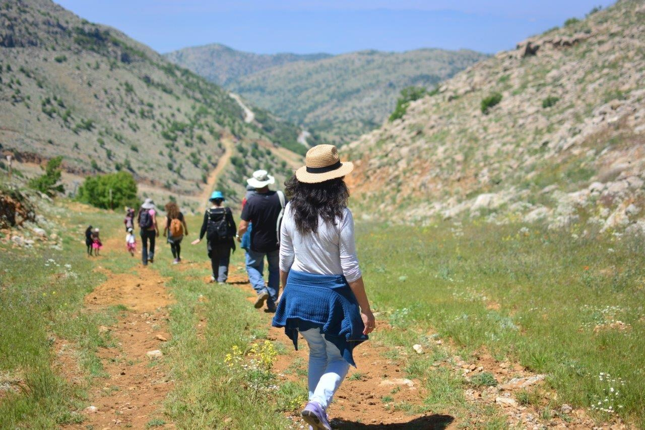 Hiking on Mount Hermon. Photo by Miki Inbar